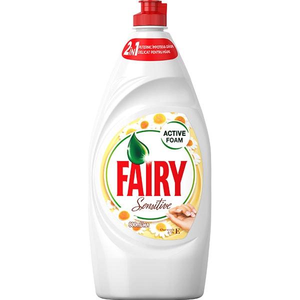 Detergent de vase FAIRY Sensitive Chamomile, 800 ml
