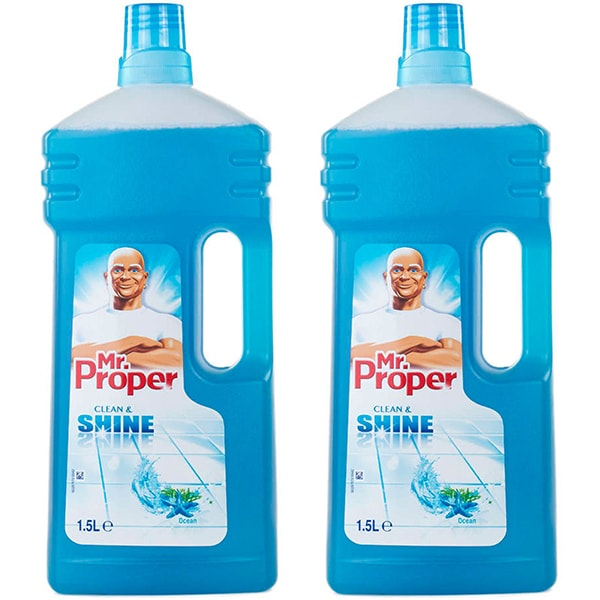 Pachet detergent universal pentru suprafete MR. PROPER, Ocean, 2 x 1.5l