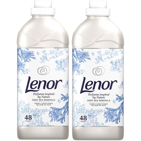 Pachet balsam de rufe LENOR Naturals Deepsea Minerals 2 x 1.44l, 96 spalari