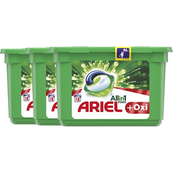 Detergent capsule ARIEL All in One PODS Plus Oxi Effect, 54 spalari