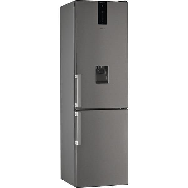 Combina frigorifica WHIRLPOOL W7 911C OX H AQUA, No Frost, 360 l, H 201 cm, Clasa A+, inox
