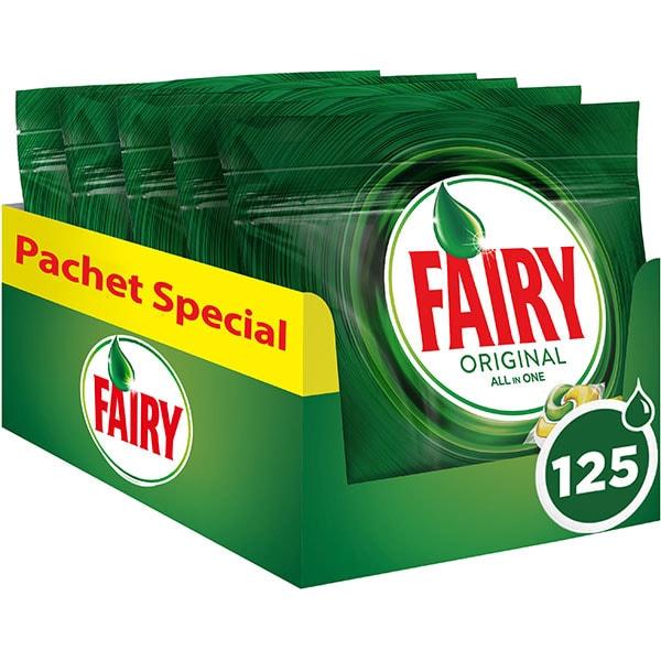 Detergent pentru masina de spalat vase FAIRY All in One, 125 capsule