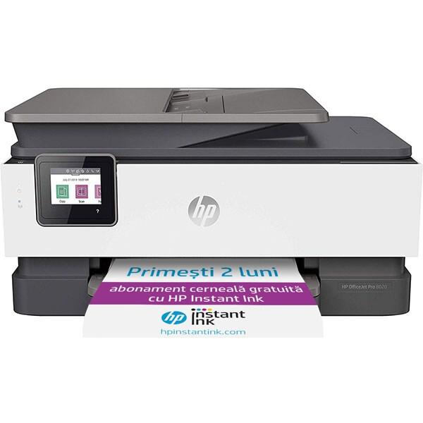 Multifunctional inkjet color HP OfficeJet Pro 8023, A4, Retea, Wi-Fi, Fax