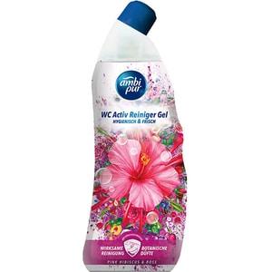Solutie curatare toaleta AMBIPUR Pink Hibiscus & Rose, 750 ml