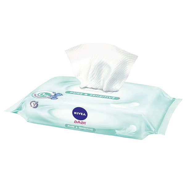 Servetele umede NIVEA Baby Pure & Sensitive, 63 buc