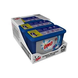 Detergent capsule OMO Ultimate Active Clean Trio caps, 120 capsule