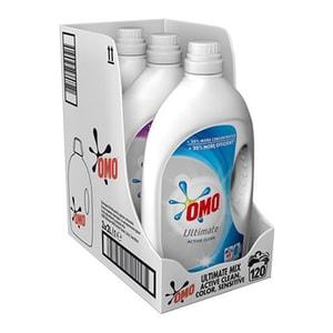 Detergent lichid OMO Ultimate Concentrat Mix Box Active, Color, Sensitive, 6l, 120 Spalari
