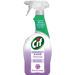 Solutie de curatare CIF Disinfect & Shine Flower Breeze Spray, 750 ml