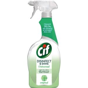 Solutie de curatare CIF Disinfect & Shine Original Spray, 750 ml
