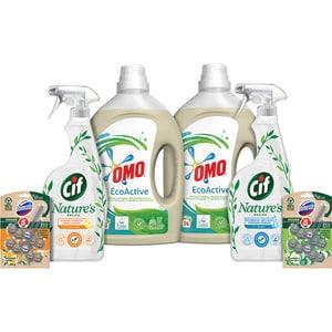 Pachet detergenti pentru curatenia casei OMO + DOMESTOS + CIF, 6 bucati