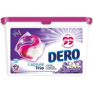 Detergent rufe DERO Trio Caps Lavanda, 50 spalari