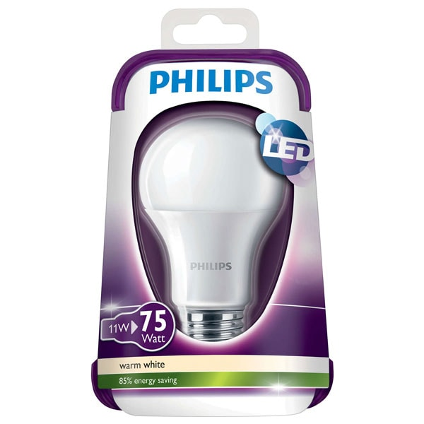 Bec LED PHILIPS 8718696490846, 11W, E27, 2700K, alb cald