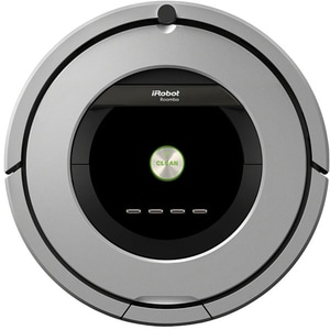 Aspirator robot IROBOT Roomba 886, AeroForce, Wall Follow, negru-gri
