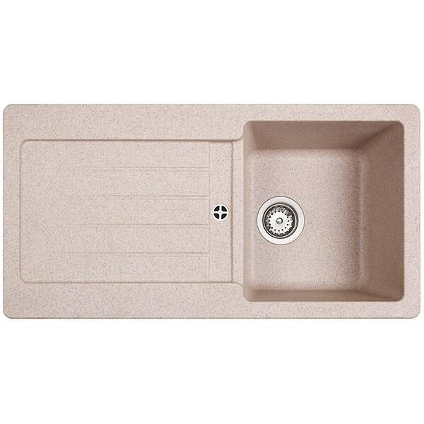 Chiuveta bucatarie TEKA KEA 45B TG 1B 1D, 1 cuva, picurator reversibil, granit sandbeige