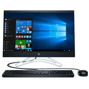 "Sistem PC All in One HP 24-f0035nq, Intel Core i5-9400T pana la 3.4GHz, 23.8"" Full HD, 4GB, SSD 256GB, Intel UHD Graphics 630, Windows 10 Home, negru"