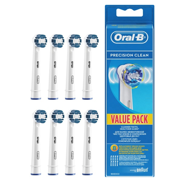 Rezerve periuta de dinti electrica ORAL-B Precision Clean EB20, 8buc