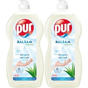 Detergent de vase PUR Aloe Vera, 2 x 1.35l