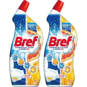 Solutie curatare toaleta BREF WC Gel Orange, 2 x 700ml