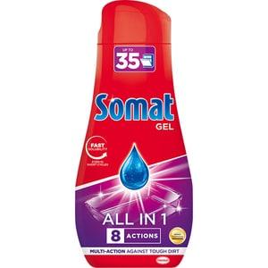 Detergent pentru masina de spalat vase SOMAT Gel All In One, 630 ml, 35 spalari