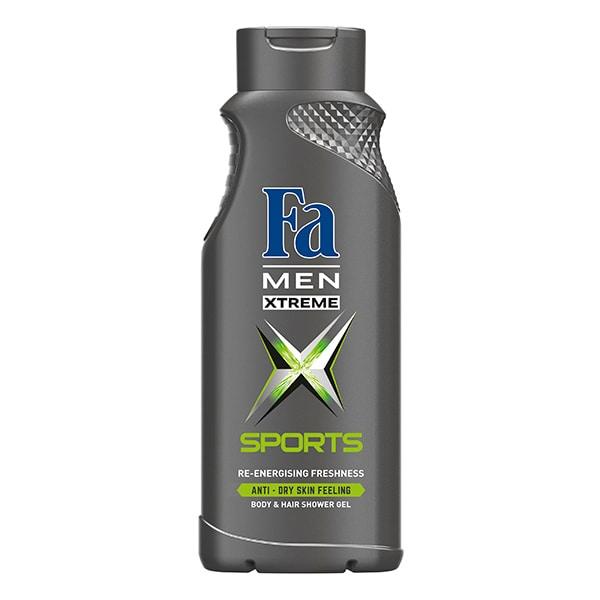 Gel de dus 2 in 1  FA Men Xtreme Sport, 400ml