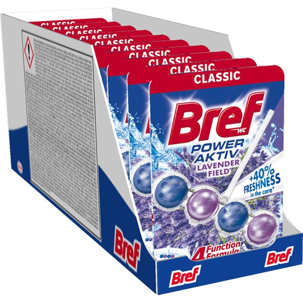 Odorizant toaleta BREF Power Aktiv Lavender, 10 x 50g