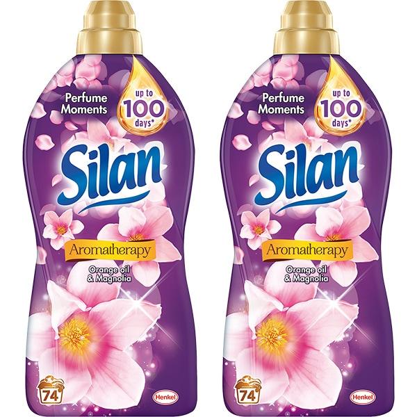 Balsam de rufe SILAN Aromatherapy Orange Oil & Magnolia, 2 x 1.85l, 148 spalari