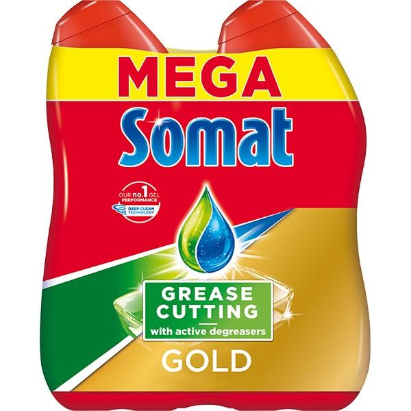 Detergent pentru masina de spalat vase SOMAT Gel Gold Anti-grease 2 x 684ml, 76 spalari