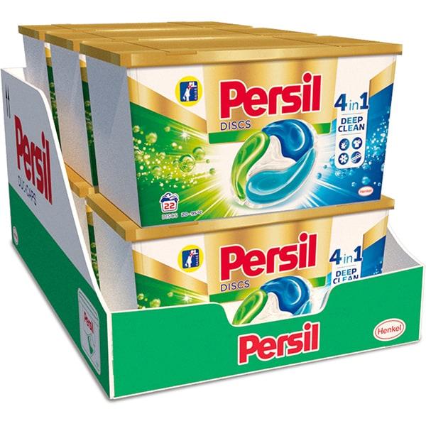 Detergent capsule PERSIL Discs Universal Box, 6 x 22 spalari