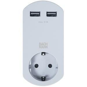 Adaptor Smart 2xUSB Charger BACHMANN 919.024, alb