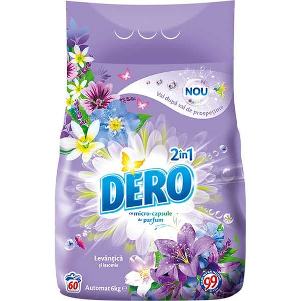 Detergent automat DERO 2 in 1 Levantica, 6kg, 60 spalari