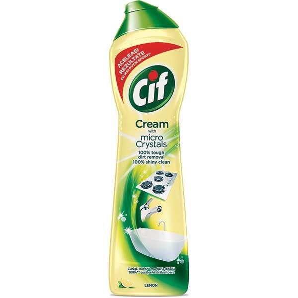 Solutie de curatat CIF Crema Lemon, 500ml