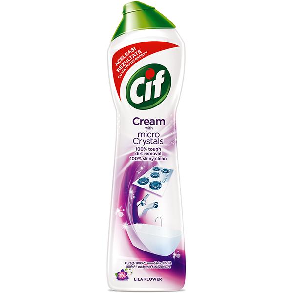 Solutie de curatare CIF Crema Lila, 500ml