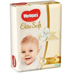 Scutece HUGGIES Elite Soft nr 3, Unisex, 5 - 9 kg, 80 buc