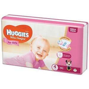 Scutece HUGGIES Ultra Confort nr 4, Fata, 8 - 14 kg, 66 buc