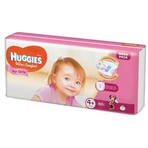 Scutece HUGGIES Ultra Confort nr 4+, Fata, 10 - 16 kg, 60 buc
