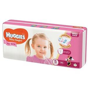 Scutece HUGGIES Ultra Confort nr 5, Fata, 12 - 22 kg, 56 buc