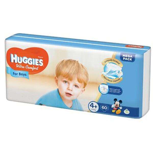 Scutece HUGGIES Ultra Confort nr 4+, Baiat, 10 - 16 kg, 60 buc