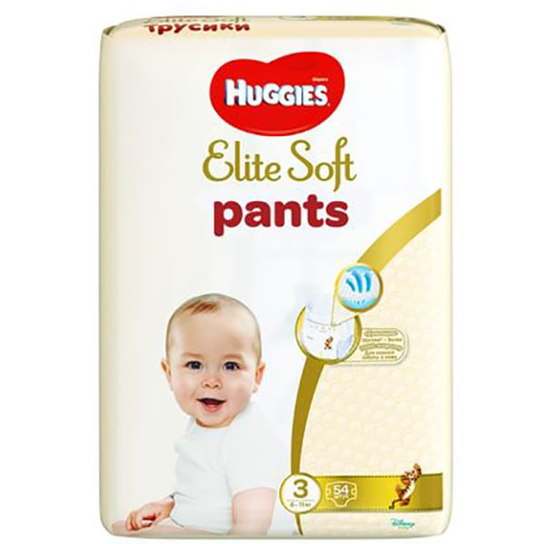 Scutece chilotei HUGGIES Elite Soft Pants nr 3, Unisex, 6 - 11 kg, 54 buc