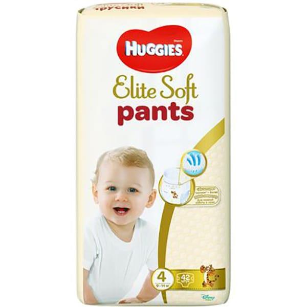 Scutece chilotei HUGGIES Elite Soft Pants nr 4, Unisex, 9 - 14 kg, 42 buc