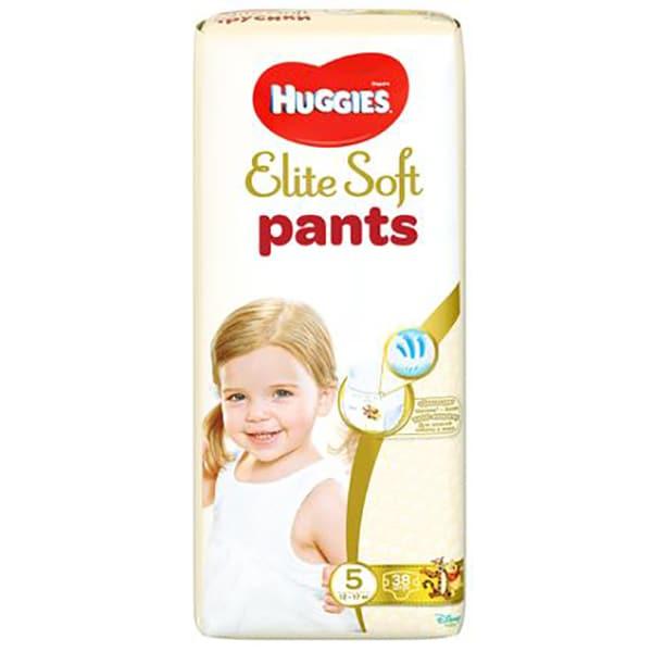 Scutece chilotei HUGGIES Elite Soft Pants nr 5, Unisex, 12 - 17 kg, 38 buc