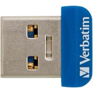Memorie Nano USB VERBATIM Store 'n' Stay, 16GB, USB 3.0, albastru