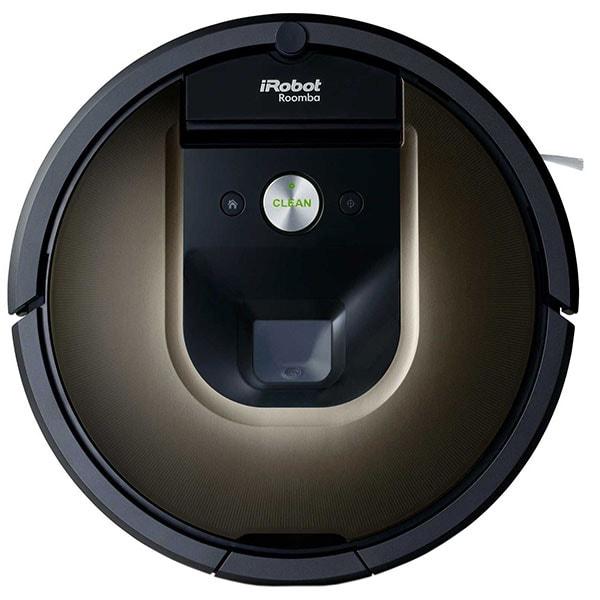 Aspirator robot IROBOT Roomba 980, autonomie max 120 min, Wi-Fi, Navigatie iAdapt, Dirt Detect, negru-maro