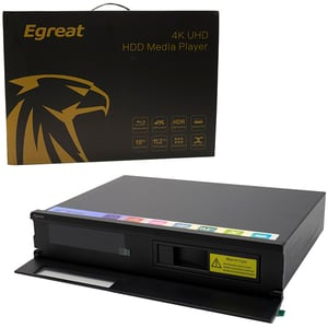 Mini PC EGREAT A10 II, 4K, Quad Core, 16GB, 2GB Ram, Wi-Fi, Android, negru