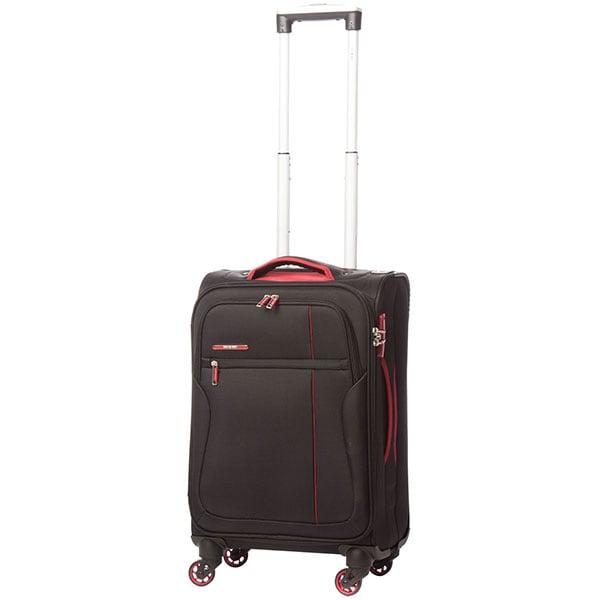 Troler LAMONZA Ultralight A12955, 55 cm, negru-rosu