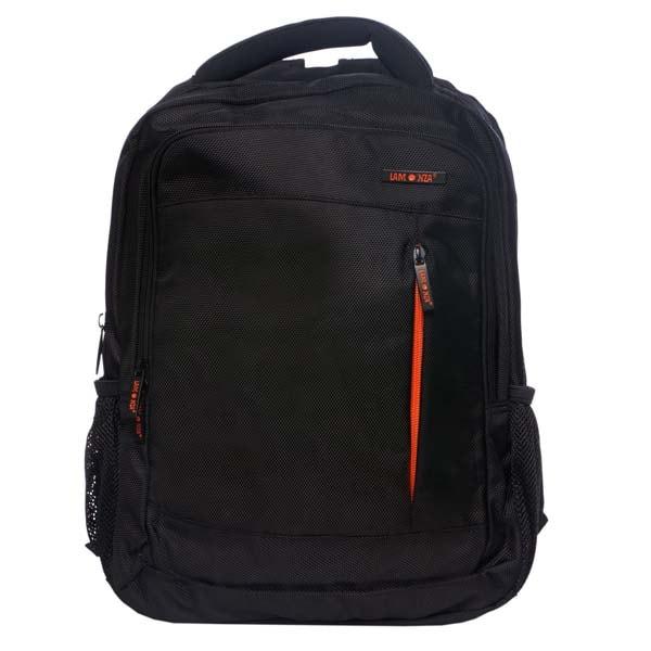 Rucsac de laptop LAMONZA Crest, negru-portocaliu