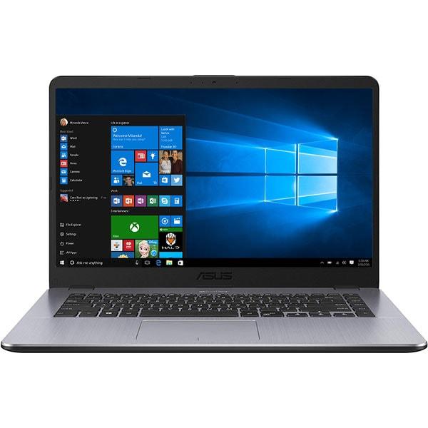 "Laptop ASUS A505ZA-EJ824T, AMD Ryzen 5 2500U pana la 3.6GHz, 15.6"" Full HD, 8GB, SSD 512GB, AMD Radeon Vega 8, Windows 10 Home, Dark Grey"