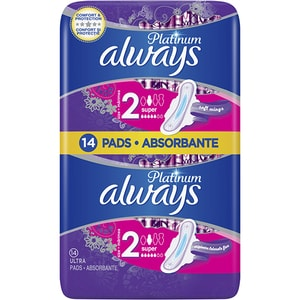 Absorbante ALWAYS Duo Platinum Ultra Super plus Size 2, 14buc