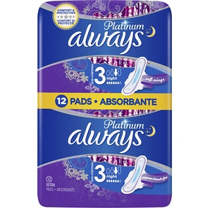 Absorbante ALWAYS Duo Patinum Night Size 3, 12buc
