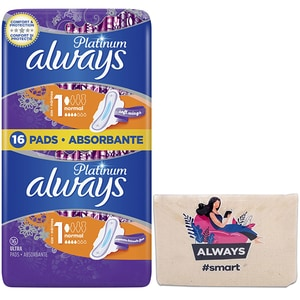 Absorbante ALWAYS Duo Platinum Size 1, 16buc + Pouch