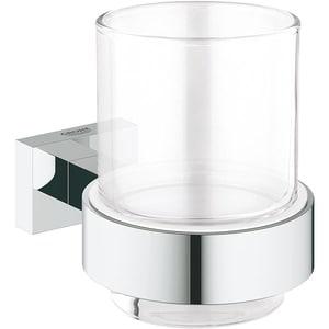 Set pahar baie GROHE Essentials Cube 40755001, argintiu